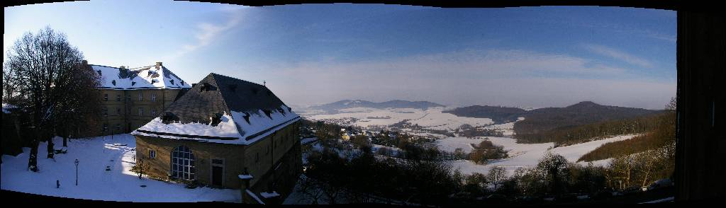the view from a monastery in Bavaria
